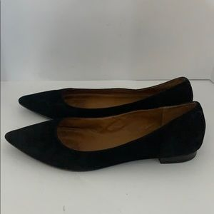 Authentic Frye black suede leather flats sz 10